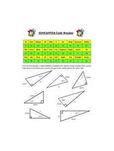 sohcahtoa trigonometry codebreaker teaching resources