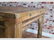 Extending Rustic Farmhouse Dining Table Set   Drop Leaf