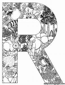 ausmalbilder kostenlos buchstabe r letter r malvorlagen