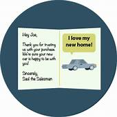 Car Sales Thank You Cards Why Should Send & What To