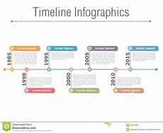 Timeline Infographics Stock Vector Illustration Of Date