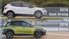 2018 seat arona vs 2018 hyundai kona technical comparison