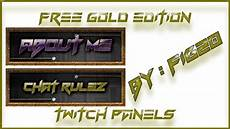 free pack tv free twitch tv panels buttons gold theme pack 3