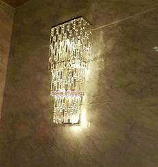 extra large hotel hall crystal wall sconce 4 lights village plaza led wall ls crystal