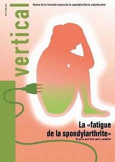 La 171 Fatigue De La Spondylarthrite 187 Soci 233 T 233 Suisse De La