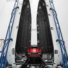 Check Out Elon S Tesla Getting Ready For Launch On Spacex