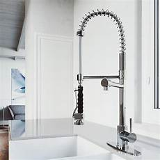 vigo kitchen faucet vigo zurich chrome 1 handle deck mount pull kitchen faucet at lowes