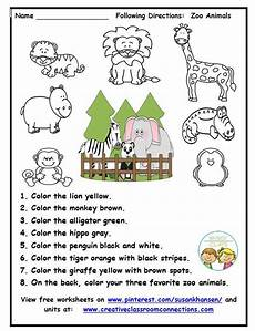 animals worksheets for primary 13865 this zoo worksheet provides practice for students to read and follow directions other primary