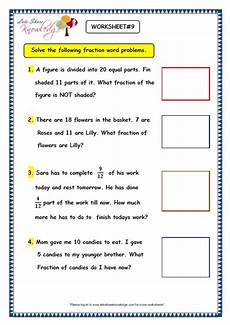 fraction word problems worksheets answers 10973 grade 3 maths worksheets 7 9 fraction word problems lets knowledge