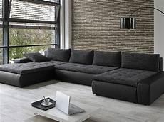 sofa wohnlandschaft wohnlandschaft cayenne 389x212 162cm anthrazit schwarz