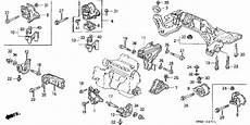 1995 honda civic ex engine diagram honda store 1995 civic at engine mount parts