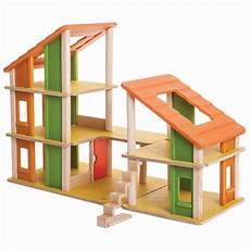 plan toy chalet doll house with furniture plan toys chalet dolls house