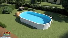 montage piscine acier ligne bleue by piscines