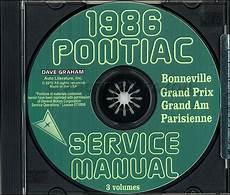 car repair manual download 1986 pontiac grand prix security system 1986 pontiac repair shop manual and body manual on cd rom grand prix am parisienne bonneville