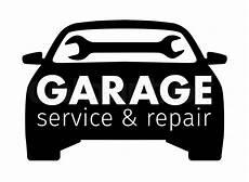 garage logo auto center garage service and repair stock vector