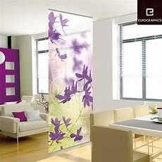 gardinen als raumteiler beautifully purple flower patterns decorative wall