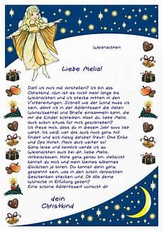 personalisieter brief vom christkind f 252 r ihr