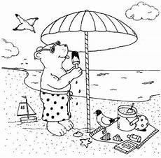 malvorlagen urlaub strand island kostenlose malvorlage urlaub und reisen b 228 r isst eis am