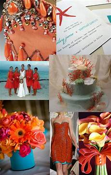 Aqua And Coral Wedding Ideas