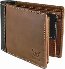 hidelink formal brown genuine leather wallet brown