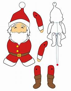 Paper Puppets Santa Claus Doll Crafts