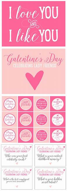 Free Quot Galentine S Day Quot Printables Pizzazzerie