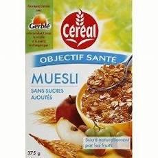 muesli sans sucre ajouté muesli sans sucre gerble 375g tous les produits
