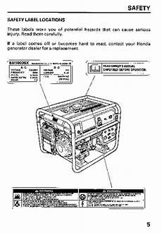 honda generator em5000sx owners manual