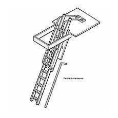 escalier escamotable aluminium avec trappe escalier escamotable aluminium de 3 25m