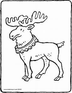 Malvorlagen Rentier Text Das Rentier Des Weihnachtsmanns Kiddimalseite