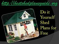 do it your self do it yourself shed plans for free