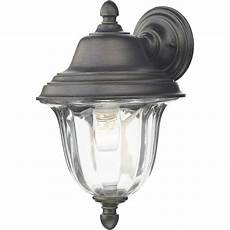 dar lighting aldgate black gold outdoor wall light with clear ribbed glass dar lighting from