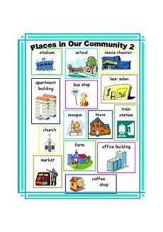 places in our community worksheets 15960 places in our community 2 esl worksheet by ehelland33