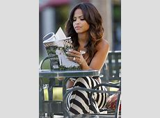 Christina Milian shows off 'engagement' ring as she reads