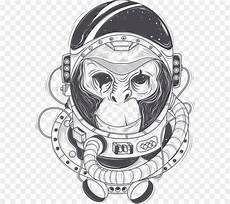 Simpanse Astronot Gambar Gambar Png