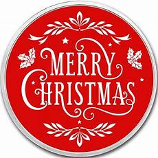 buy 1 oz silver colorized merry christmas rounds silver com