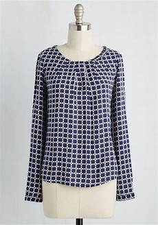 office hours haute top you meld style with studiousness by sporting this navy blue top blue
