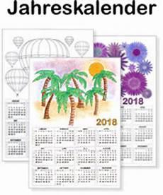 Kinder Malvorlagen Kalender Jahreskalender 2018 Vorlagen Ausdrucken Ausmalen