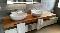 piano lavabo bagno mobile bagno doppio lavabo con mensola in legno