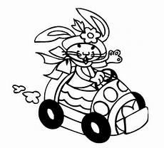 kostenlose malvorlage ostern osterh 228 im auto zum ausmalen