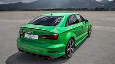craziest color on the 2018 audi rs3 sedan 400hp 480nm 5cyl viper green metallic black op