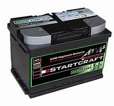 Autobatterie Agm Vlra Start Stop St70 12v 70ah 760a