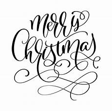 calligraphic inscription merry christmas with flourish vector illustration download free