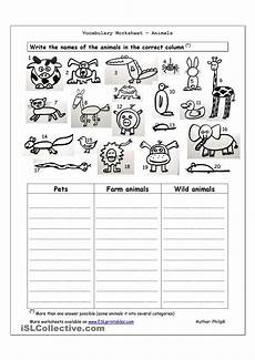 animals worksheets exercises 13776 vocabulary worksheet animals aulas de ingl 234 s