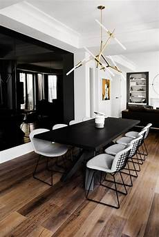Black Dining Room Table by What S On 5 Black Dining Rooms For A