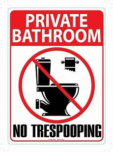 Bathroom Signs No Pooping by Metal Sign Notress Pooping Ebay