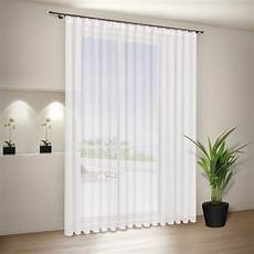 store gardinen 1 2 5 pleated ribbon voile store finished curtain white in
