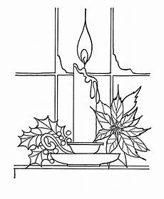candle near window coloring pages