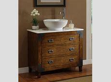 Image of Astonishing Antique Bathroom Vanity Vessel Sink