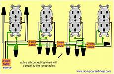 wiring diagrams for multiple receptacle outlets do it yourself help com
